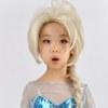 ディズニー風 アナと雪の女王 エルサ 子供用 コスプレ衣装