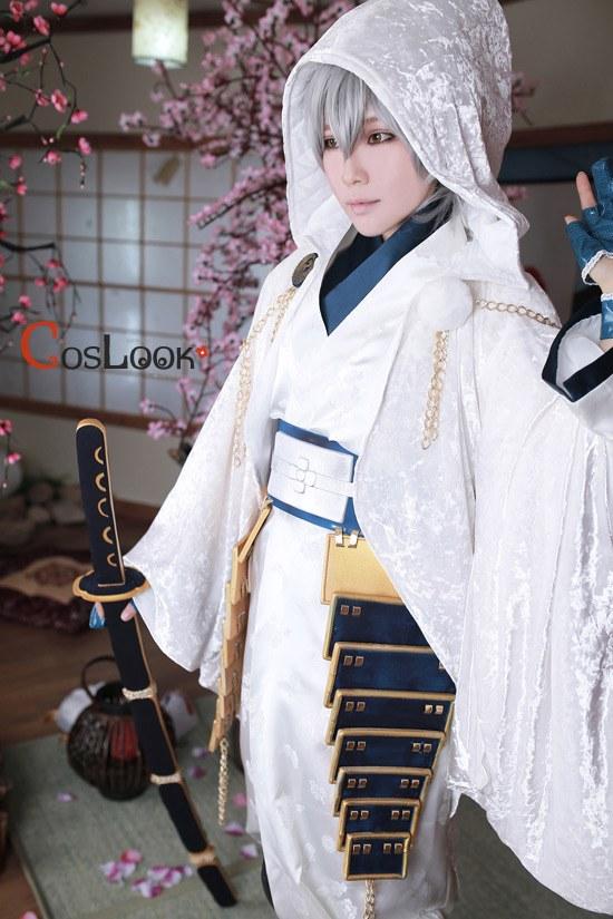刀剣乱舞「鶴丸国永」フードコートコスプレ衣装