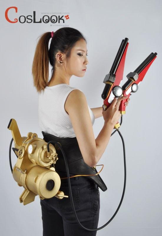 甲鉄城のカバネリ 無名 二丁拳銃+背負い機関 コスプレ小道具