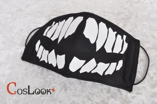牙模様のマスク コスプレ衣装