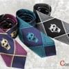 ジョジョの奇妙な冒険 吉良吉影 ネクタイ 紫×青 二色セット コスプレ小道具(送料無料)