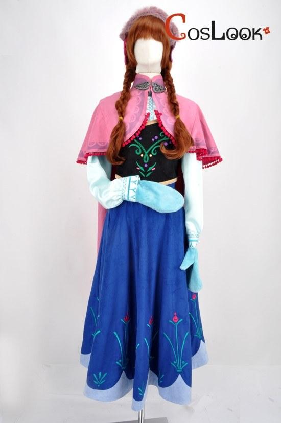 アナと雪の女王風 アナ オーダーメイドコスプレ衣装