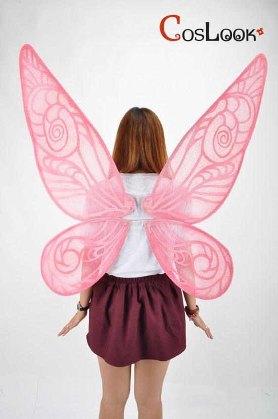 ディズニー風 ティンカーベルの羽 ピンク オーダーメイドコスプレ小道具