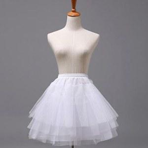 【送料無料】ドレス ワンピース コスプレ 3段パニエ 白色
